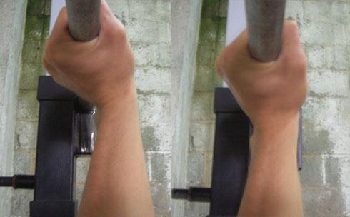 wrist posture for bench press
